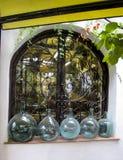 Spanish Resturant Window - Madrid Stock Photos