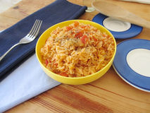 Spanish rice. Royalty Free Stock Images