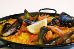 Spanish rice: paella Stock Photography