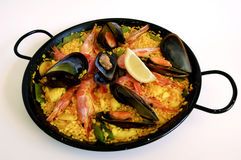 Spanish rice: paella Royalty Free Stock Images