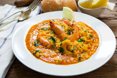Spanish rice style seafood Stock Photography