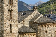 Spanish romanesque. Sant Climent de Taull church. Vall de Boi. C Royalty Free Stock Photo