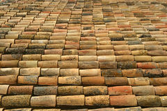 Spanish roof tiles. A shot of a Spanish roof. Would make ideal background Royalty Free Stock Photography