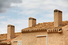 Spanish roofs Royalty Free Stock Photos