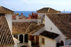 Spanish roofs Stock Photo
