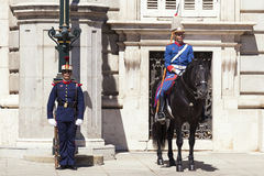 Spanish Royal Palace guard Stock Photography