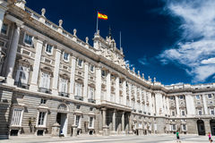 Spanish royal palace in Madrid Royalty Free Stock Photos