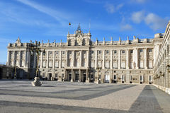 The Spanish Royal Palace in Madrid Spain Stock Photos