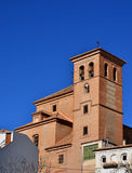 Spanish rural church. Spanish rural christian church in an andalusian small village Royalty Free Stock Image