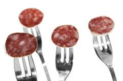 Spanish salami Stock Photos