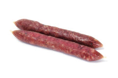 Spanish salami Stock Images