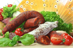 Spanish Salami Royalty Free Stock Image