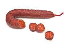 Spanish salami sausage  Stock Images