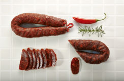 Spanish salami Stock Photography