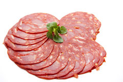 Spanish salamis Royalty Free Stock Photography
