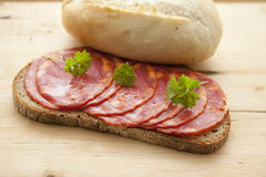 Spanish salamis Stock Image
