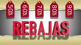 Free Spanish Sale 3D Text Royalty Free Stock Images - 126091859