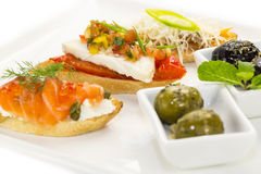 Spanish sandwiches Stock Photography