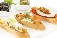 Spanish sandwiches Royalty Free Stock Photo