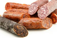 Spanish sausage Royalty Free Stock Photos