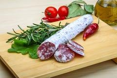 Spanish sausage - fuet Stock Photo