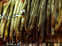 Spanish Sausages Royalty Free Stock Images