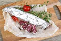 Spanish sausages- fuet Stock Photography