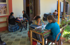Spanish school in Guatemala Royalty Free Stock Images