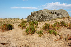 Spanish scree. Typical mountainous landscape of west central Spain Royalty Free Stock Photos