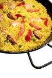 Spanish seafood paella Stock Photos