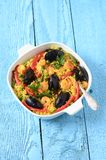 Spanish  Seafood Paella Stock Photo