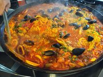 Spanish Seafood Rice Royalty Free Stock Images