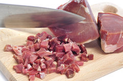 Spanish serrano ham Stock Photo