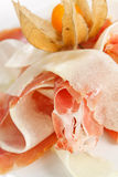 Spanish serrano ham Stock Photo