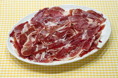 Spanish serrano ham Stock Photos