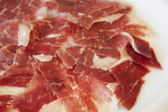 Spanish serrano ham Royalty Free Stock Images