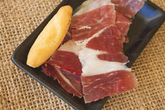 Spanish serrano ham Royalty Free Stock Image