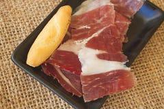Spanish serrano ham Royalty Free Stock Image
