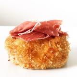 Spanish Serrano Ham Croquette Tapa Stock Photography