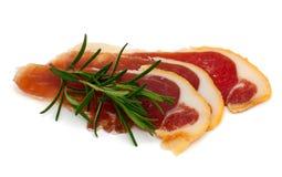 Spanish serrano ham Stock Image
