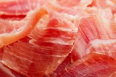 Spanish Serrano Ham Jamon sliced Stock Image