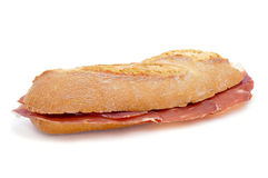 Spanish serrano ham sandwich Stock Photo