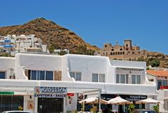 Spanish shops, Mojacar. Royalty Free Stock Images