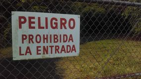 Spanish sign Peligro Prohibida la entrada Royalty Free Stock Photos