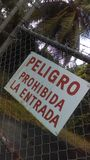 Spanish sign Peligro Prohibida la entrada Royalty Free Stock Image