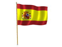 Spanish silk flag. Silk flag of Spain Royalty Free Stock Photo
