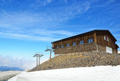 Spanish ski resort in spring, Andalusian Sierra Nevada Royalty Free Stock Photo