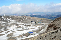 Spanish ski resort in the spring Sierra Nevada Stock Photography