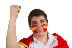 Spanish soccer fan Royalty Free Stock Photos