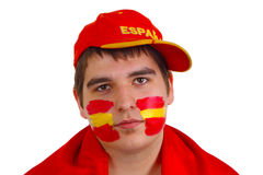 Spanish soccer fan Royalty Free Stock Photography